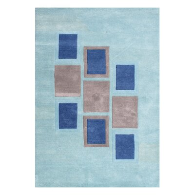 Alliyah Handmade Sea Blue Area Rug