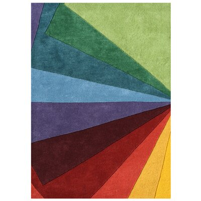 Alliyah Handmade Green/Blue/Red Area Rug