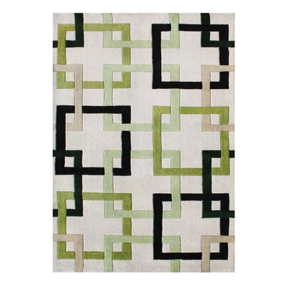 Alliyah Handmade Beige/Green/Black Area Rug