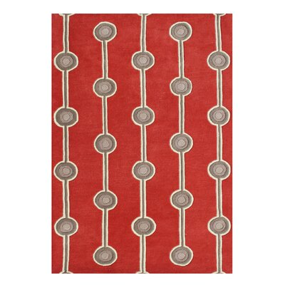 Alliyah Handmade Fiery Red Area Rug
