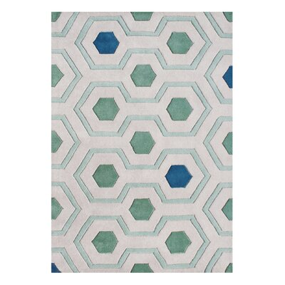 Alliyah Handmade Aqua Green Area Rug