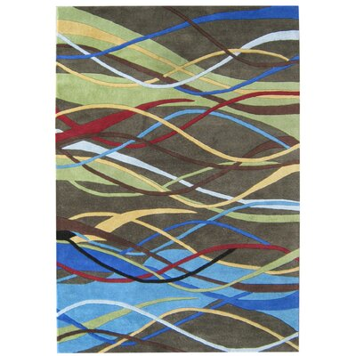 Alliyah Handmade Green/Blue/Brown Area Rug