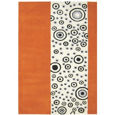 Alliyah Handmade Orange/Beige Area Rug