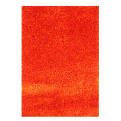 Alliyah Handmade Orange Indoor Area Rug Rug Size: 4 x 6