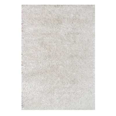 Alliyah Handmade Off White Area Rug Rug Size: 5 x 8