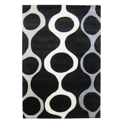 Alliyah Handmade Black Area Rug Rug Size: Rectangle 9 x 12