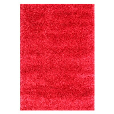 Alliyah Handmade Red Area Rug Rug Size: Rectangle 5 x 8