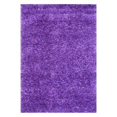 Alliyah Handmade Purple Area Rug Rug Size: Rectangle 4 x 6