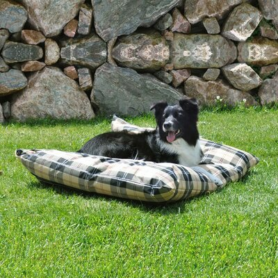 Indoor/Outdoor Single Seam Dog Pillow Size: Large (44 L x 35 W), Color: Tan