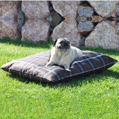 Indoor/Outdoor Single Seam Dog Pillow Size: Small (38 L x 28 W), Color: Brown