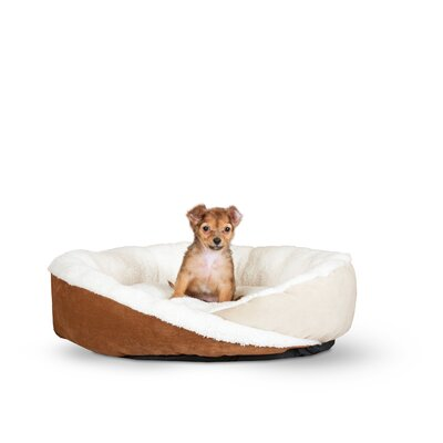 Huggy Nest Dog Bed Size: Small - 22 L x 19 W, Color: Tan / Caramel