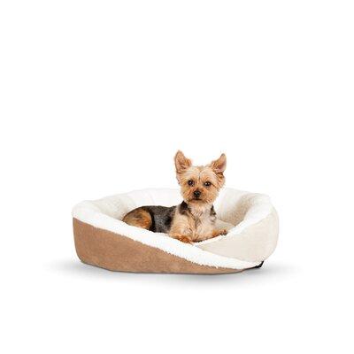 Huggy Nest Dog Bed Size: Medium - 28 L x 24 W, Color: Tan / Caramel