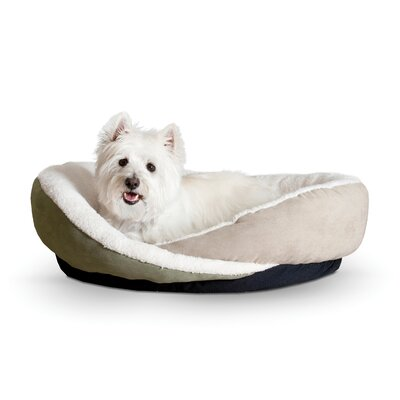 Huggy Nest Dog Bed Size: Medium - 28 L x 24 W, Color: Green / Tan