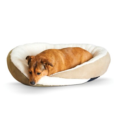 Huggy Nest Dog Bed Color: Tan / Caramel, Size: Large - 36 L x 30 W