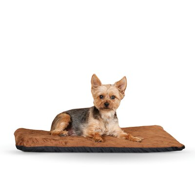 Ortho Heated Dog Pad with Stay Put Bottom Size: Medium (27 L x 17 W), Color: Chocolate
