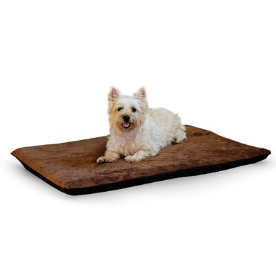 Ortho Heated Dog Pad with Stay Put Bottom Size: Large (37 L x 27 W), Color: Chocolate