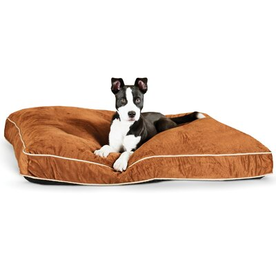 Dog Tufted Pillow Top Bed Size: Medium, Color: Chocolate