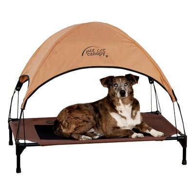 Pet Cot Canopy Size: Large (30 H x 42 W), Color: Tan
