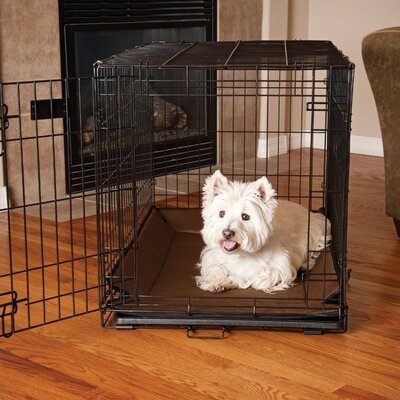 Odor-Control Crate Pad Cover Color: Gray, Size: 0.5 H x 31 W x  21 D