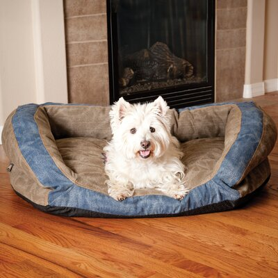 Premium Logo Bolster Dog Bed Size: 9 H x 40  W x  28  D