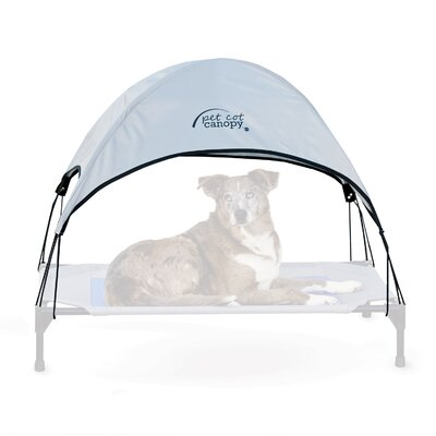 Pet Cot Canopy Size: Large (30 H x 42 W), Color: Gray