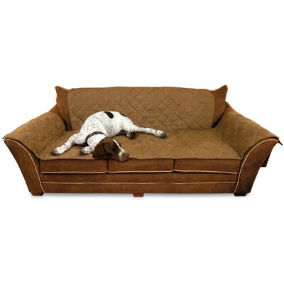 Microsuede Sofa Slipcover Color: Mocha