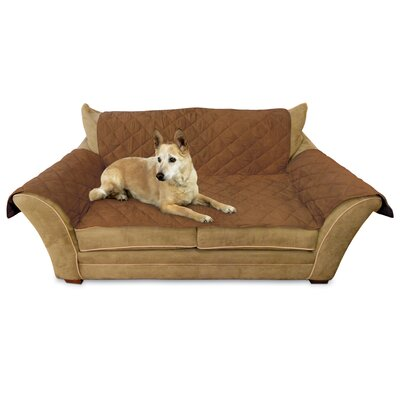 Box Cushion Loveseat Slipcover Upholstery: Mocha