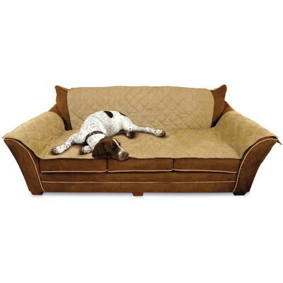 Microsuede Sofa Slipcover Color: Tan