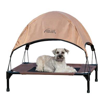 Pet Cot Canopy Size: Medium (25 H x 32 W), Color: Tan