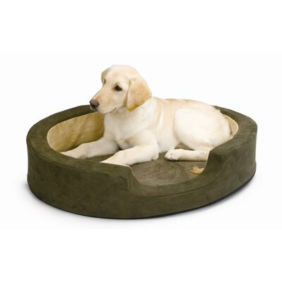 Snuggly Sleeper Heated Bolster Dog Bed Size: Medium (26 L x 20 W)