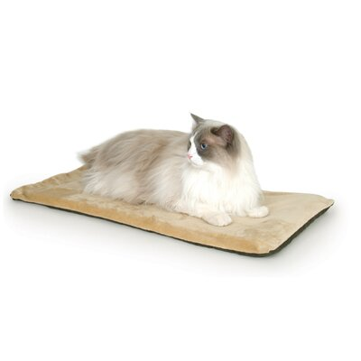 Heated-Kitty Mat Cat Bed Color: Mocha