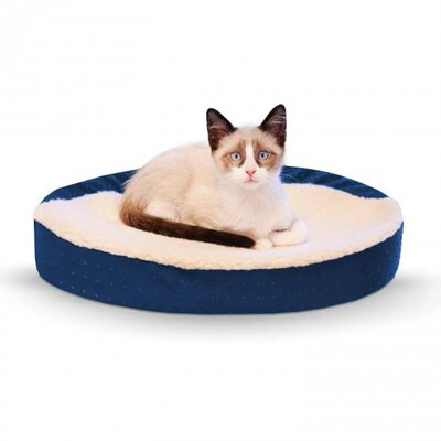 Ultra Memory Oval Cuddle Nest Color: Blue