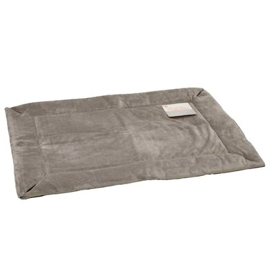 Self Warming Heated Crate Dog Pad Size: Large (37 L x 25 W), Color: Gray