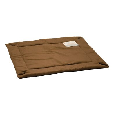 Self Warming Heated Crate Dog Pad Size: X-Small (22 L x 14 W), Color: Mocha