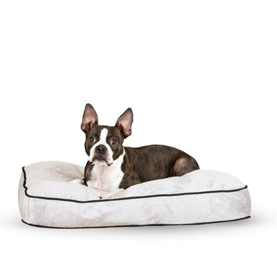 Dog Tufted Pillow Top Bed Size: Medium, Color: Gray