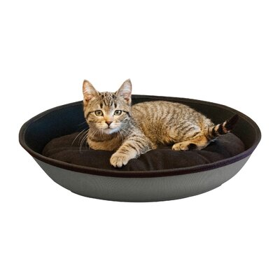 Cat Mod Sleeper Size: Medium (6 H x 16 W x 23 D, Color: Gray / Black