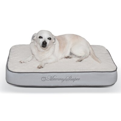 Memory Sleeper Dog Bed Color: Gray, Size: Medium