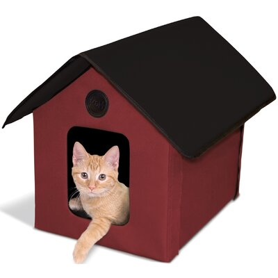 Outdoor Kitty House (Unheated) Color: Red/Black