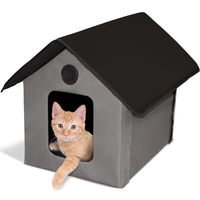 Outdoor Kitty House (Unheated) Color: Gray/Black