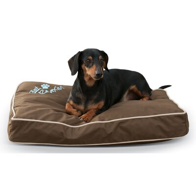 Just Relaxin Indoor / Outdoor Dog Bed Size: Large, Color: Chocolate