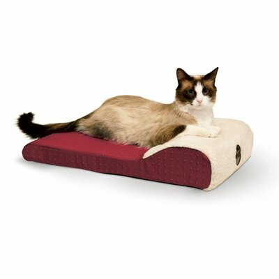 Ultra Memory Chaise Lounger Color: Red
