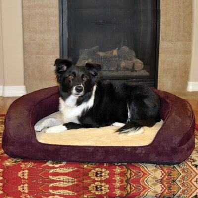 Deluxe Ortho Sleeper Bolster Dog Bed Size: Medium (30 L), Color: Eggplant