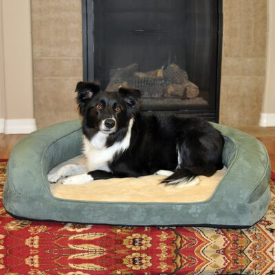 Deluxe Ortho Sleeper Bolster Dog Bed Size: Large (40 L), Color: Green