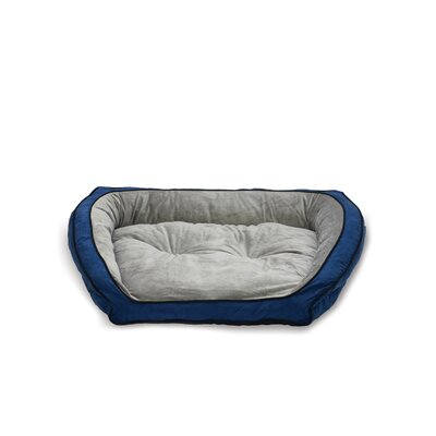 Couch Bolster Dog Bed Size: Small (30 L x 21 W), Color: Blue / Gray