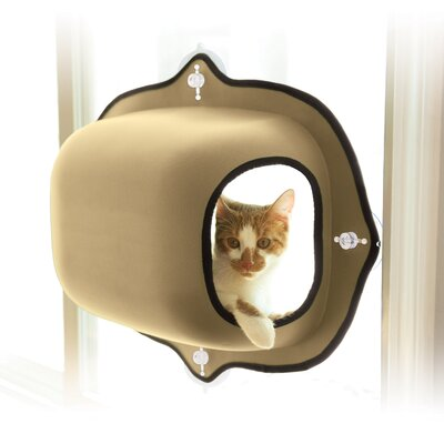 EZ Mount Window Cat House Color: Tan