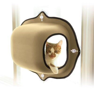 EZ Mount Window Cat House Color: Tan