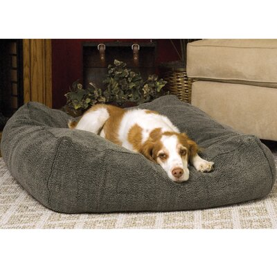 Cuddle Cube Dog Pillow Size: Medium (28 L x 28 W), Color: Mocha