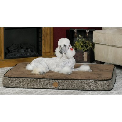 Superior Orthopedic Dog Pillow Size: Small (30 L x 20 W), Color: Mocha