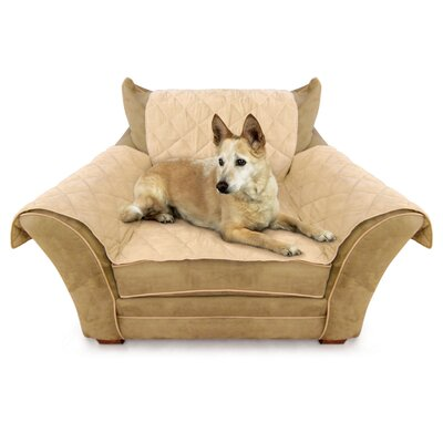 Microsuede Armchair Slipcover Color: Tan