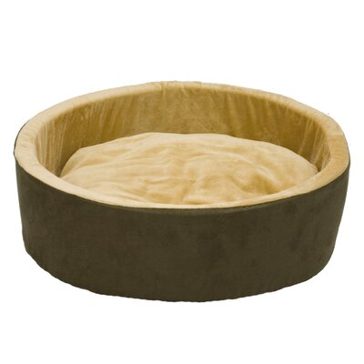 Thermo-Kitty Nest Dog Bed Size: Small (16 L x 16 W), Color: Mocha